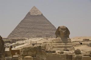 Sfinxen och Chefrens pyramid Foto: S J Pinkney http://bit.ly/1s1rDVb