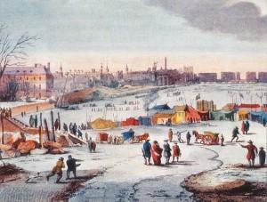 Thames Frost Fair, 1683-84, av Thomas Wyke